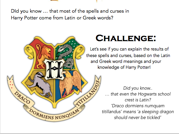 Harry Potter spells and curses in Latin