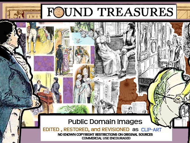 Found Treasures-Pride and Prejudice Restored Public Domain ClipArt