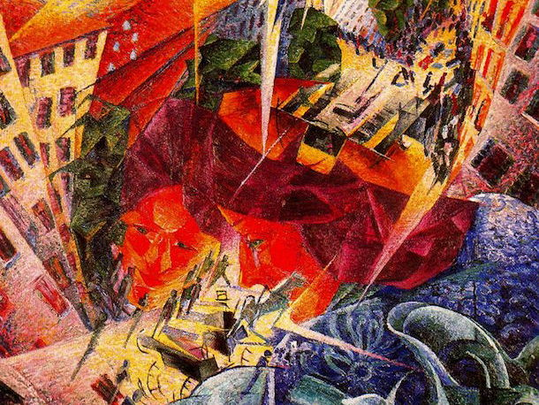 Futurism described, explained: in quotes + images of the Italian art-movement; for students & pupils