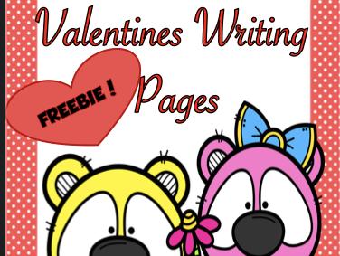 Valentine Writing Freebie