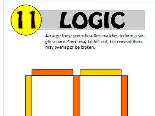 Logic Puzzle 11 of 20 (with solution)