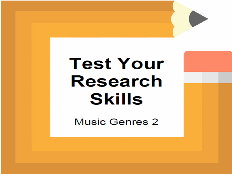 Test Your Research Skills Music Genres 2