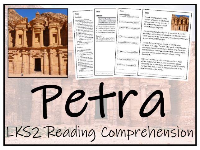 LKS2 History - Petra Reading Comprehension Activity