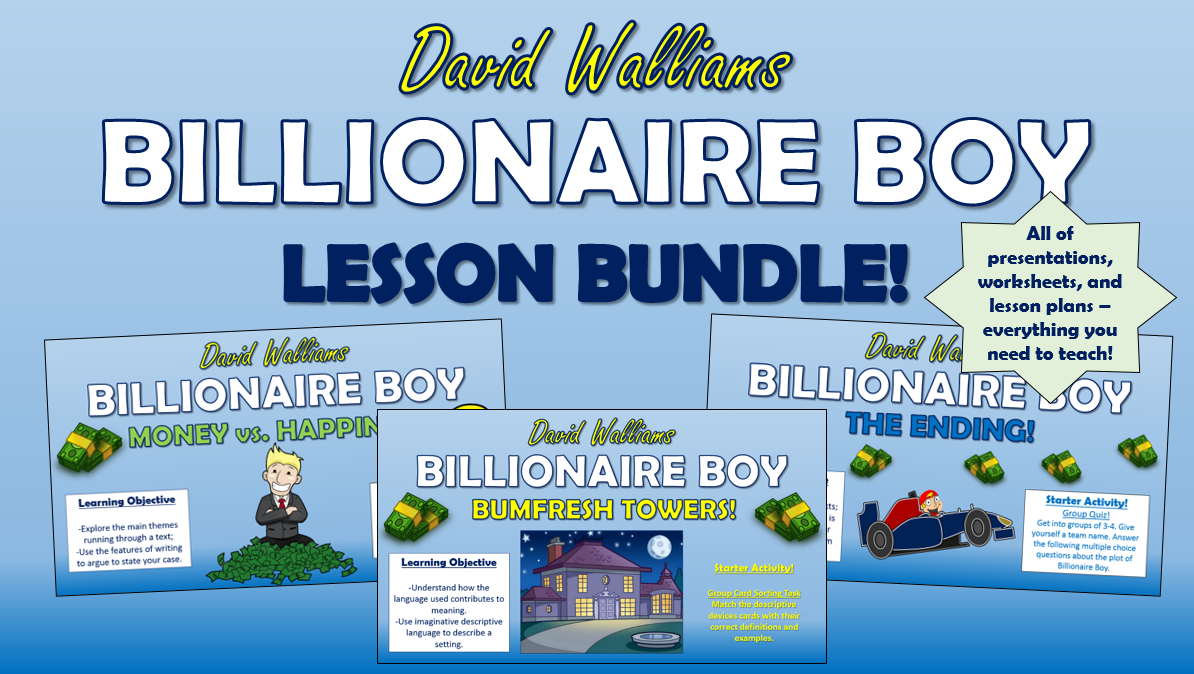 Billionaire Boy Lesson Bundle!