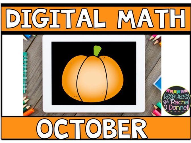 DIGITAL MATH OCTOBER for Google Slides ®