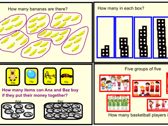Year 1 Multiplication & Division - Counting in 5's (Smartbook)