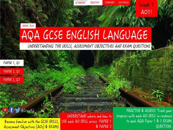New GCSE English Language Skills TEACHING UNIT, AO1: Identify, Interpret, Summary and Synthesis.