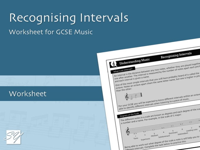 Understanding Music: Recognising Intervals - Worksheet for GCSE Music