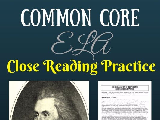 """Declaration of Independence"" Non-fiction Close Reading Practice-- COMMON CORE"