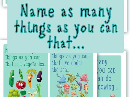 Name as many things as you can...