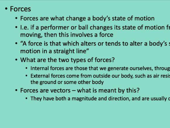 A-Level PE - Biomechanics - Forces