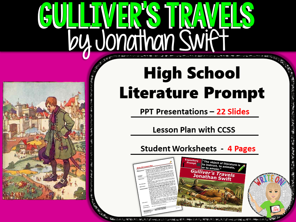 Gulliver's Travels Jonathan Swift - Textual Evidence Analysis Expository Writing