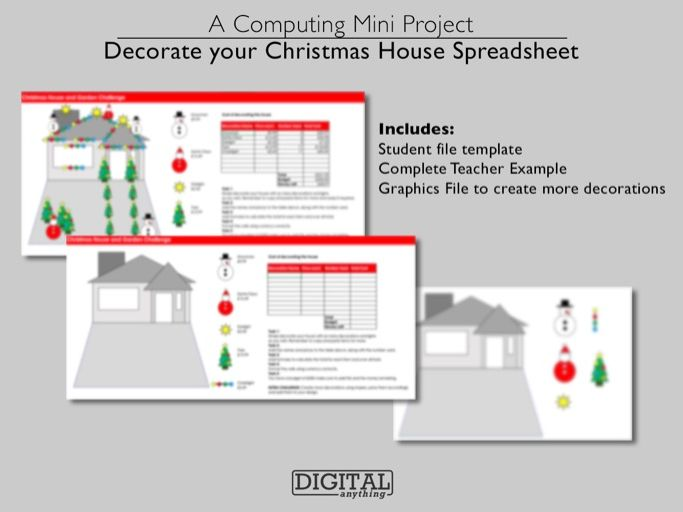 Christmas ICT Spreadsheet Design and Decorate