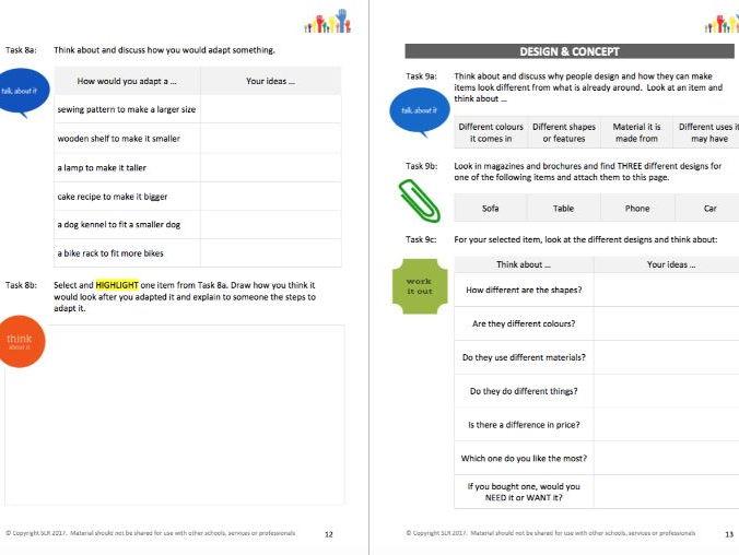 DESIGN IT - A PERFECT PLAN (Technology Focus) workbooklet