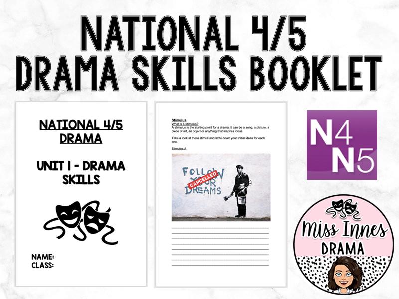 N4/5 Drama Skills Booklet