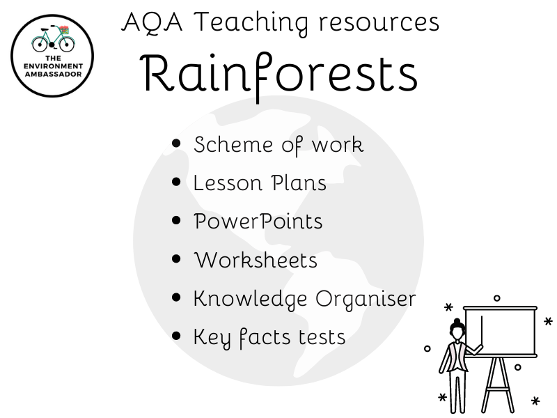 Full Scheme of Work for Rainforests (AQA Geography)