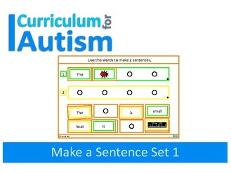Autism Sentence Making Cards, Special Education, Speech Therapy, SEND