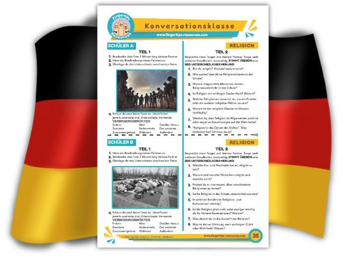 Religion - German Speaking Activity