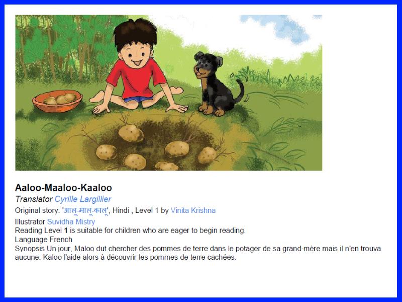 Aaloo-Maaloo-Kaaloo - Simple French Reading Books Reading Scheme