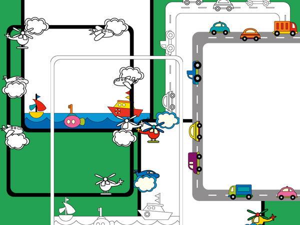 Digital borders clip art - Transportation Fun