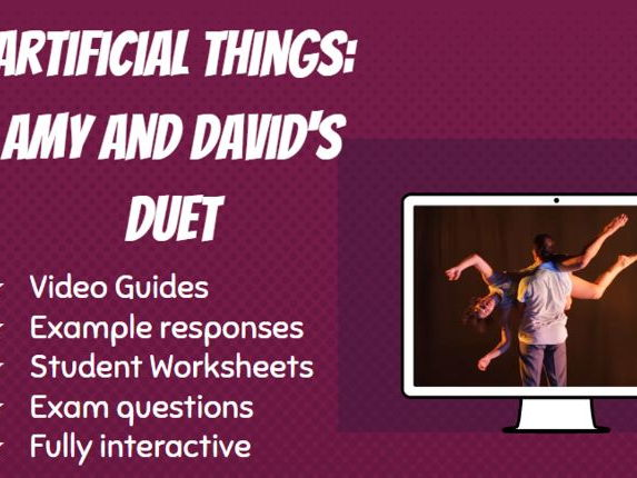 GCSE Dance Artificial Things Video Guide Amy and David Duet: Lighting