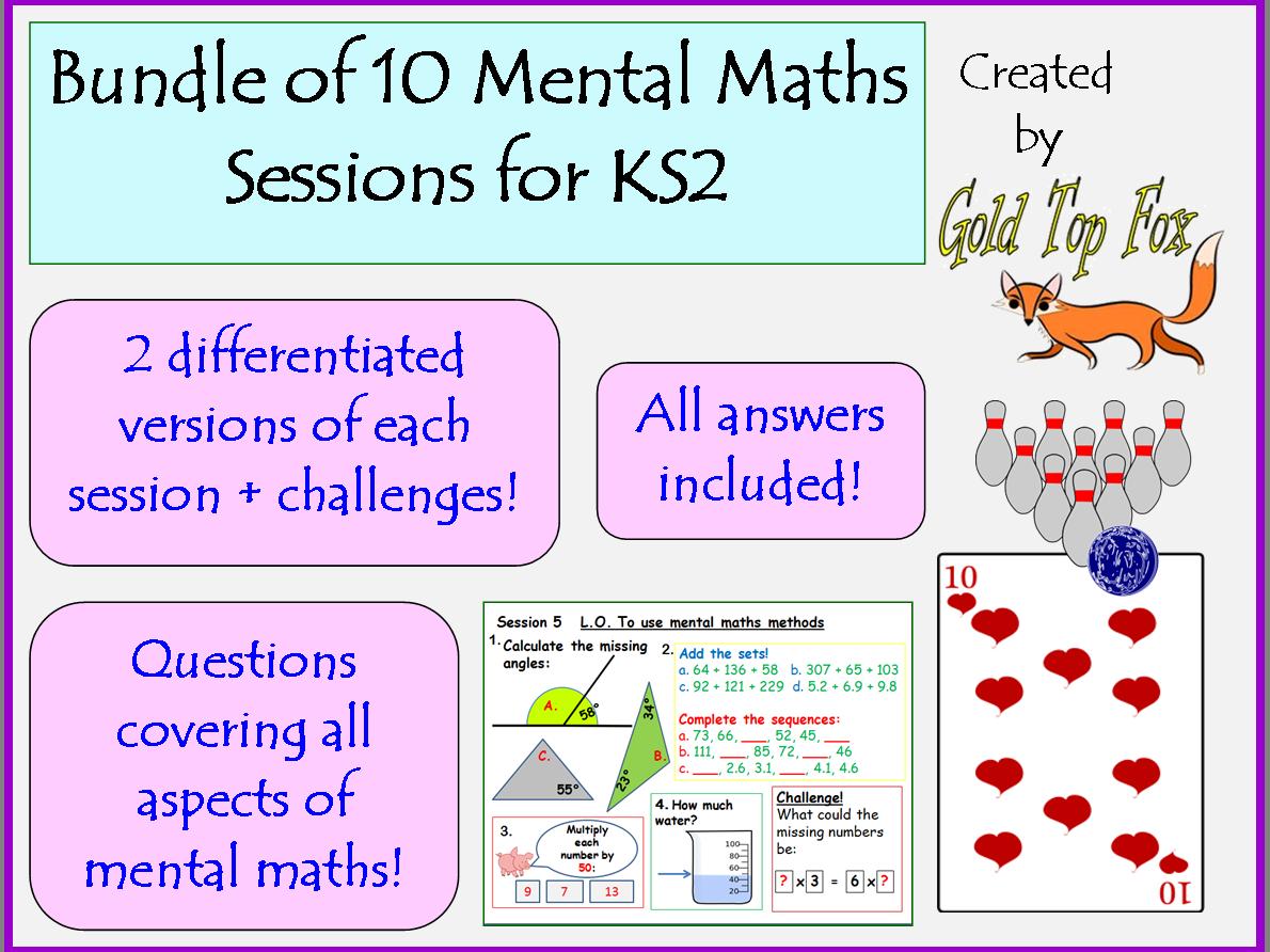 10 mental maths sessions for KS2