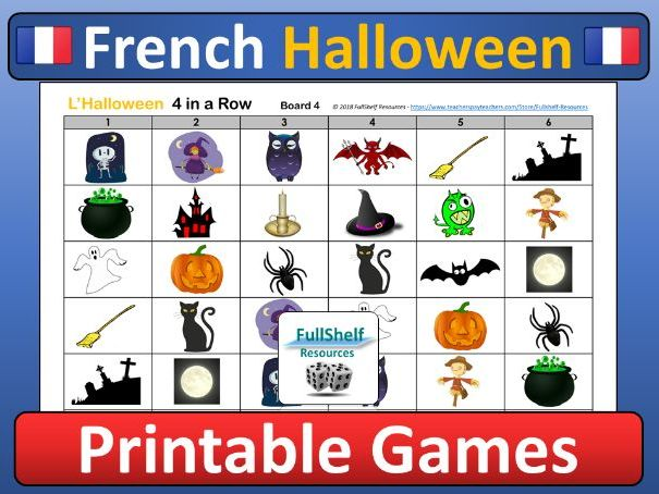 French Halloween Games