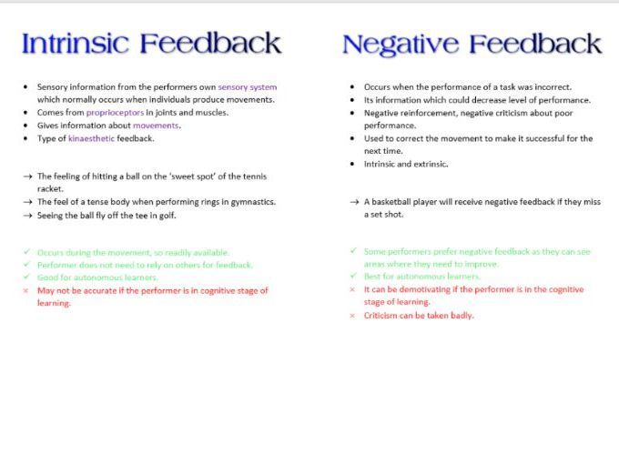 Feedback Booklet AS PE Skill for OCR