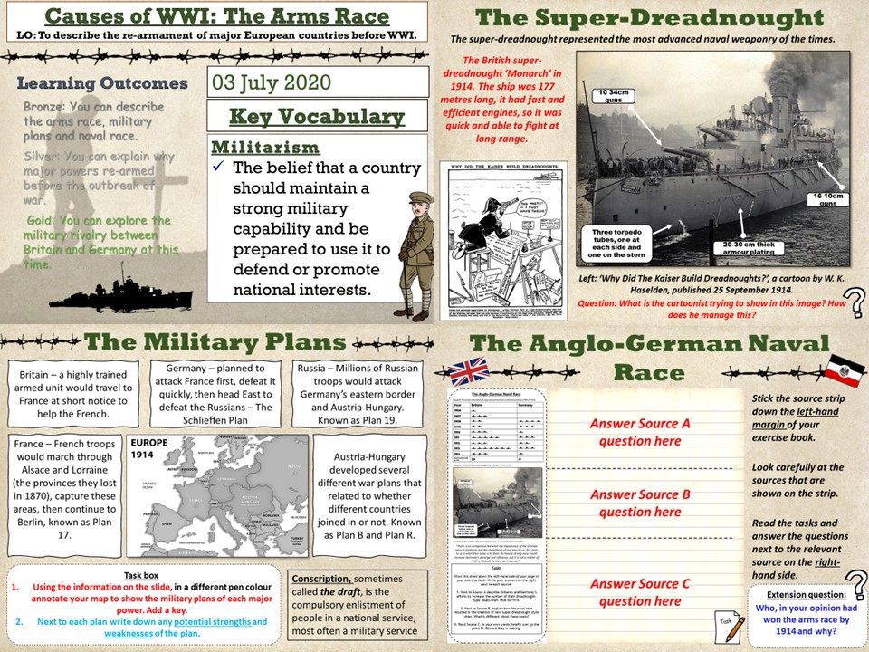 Conflict & Tension 1894 - 1918: The Arms Race