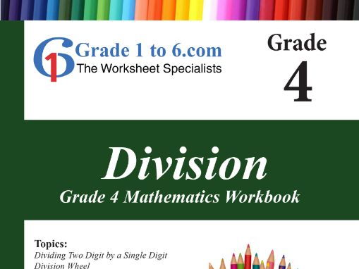 Division Grade 4 Maths Workbook from www.Grade1to6.com Books