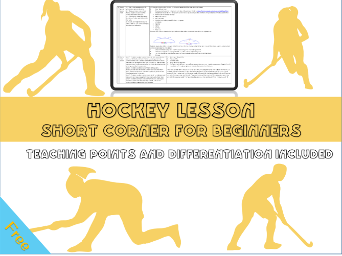 Hockey lesson plan - shooting and short corners - Year 7