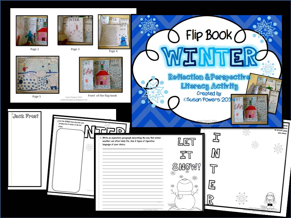 A Winter Flip Book Literacy Activity