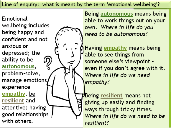 Mental Health and Emotional Wellbeing PSHE KS3