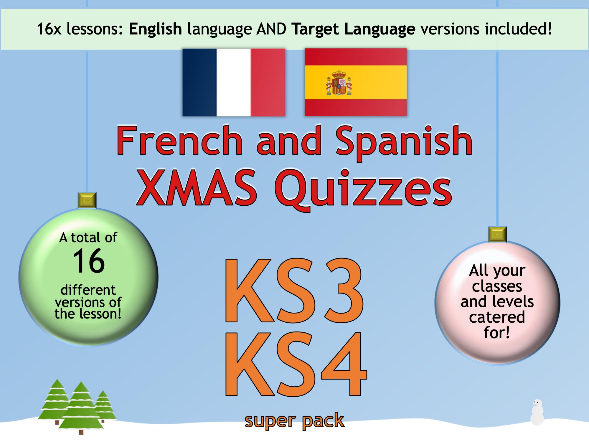 The BIG & MINI Language Christmas Quizzes Super Pack