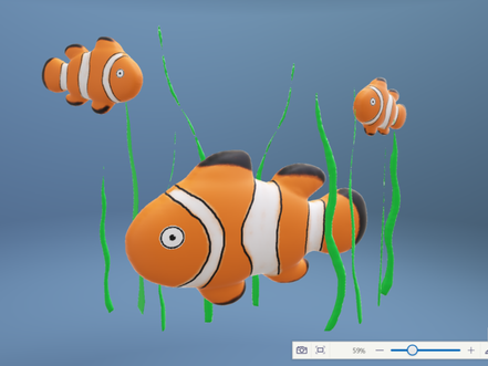 How to create a Clown Fish with Paint 3D