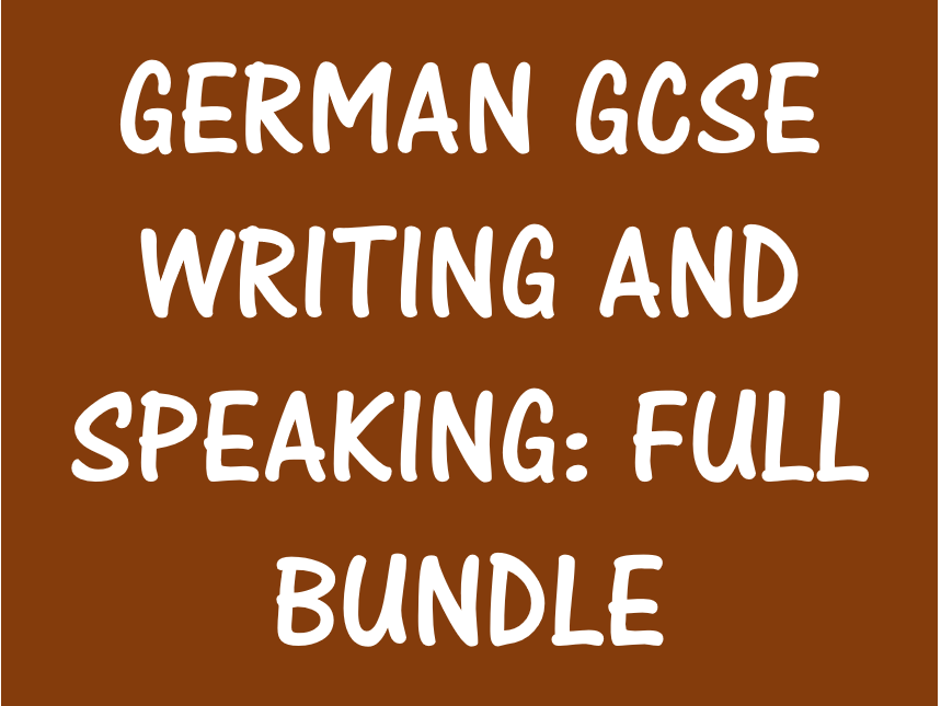 German GCSE: Writing and Speaking