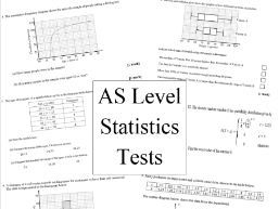 AS level statistics test x2 (new A level)