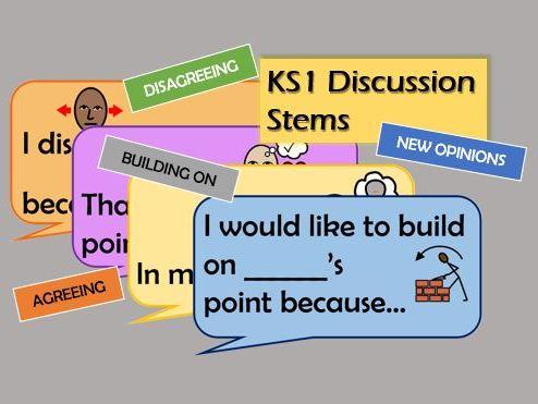 KS1 Discussion Stems *DISPLAY*