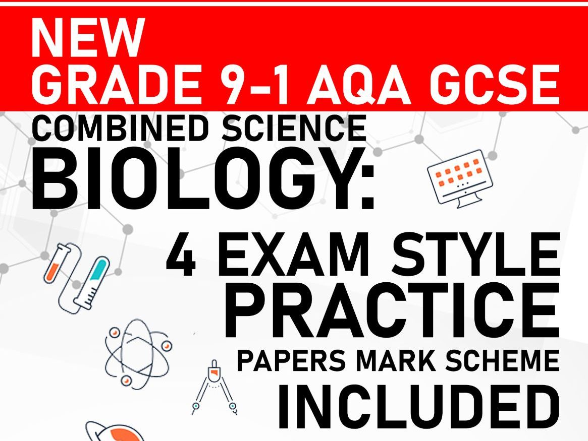 PREDICTED 2021 AQA GCSE Combined Science Biology Trilogy Pack of 4 Practice Papers