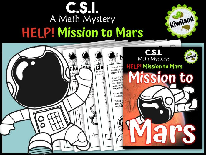 CSI Math Mystery - Help! Mission to Mars - Space