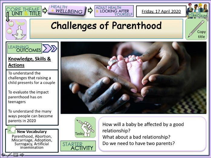 Parenthood Choices +  Finances PSHE