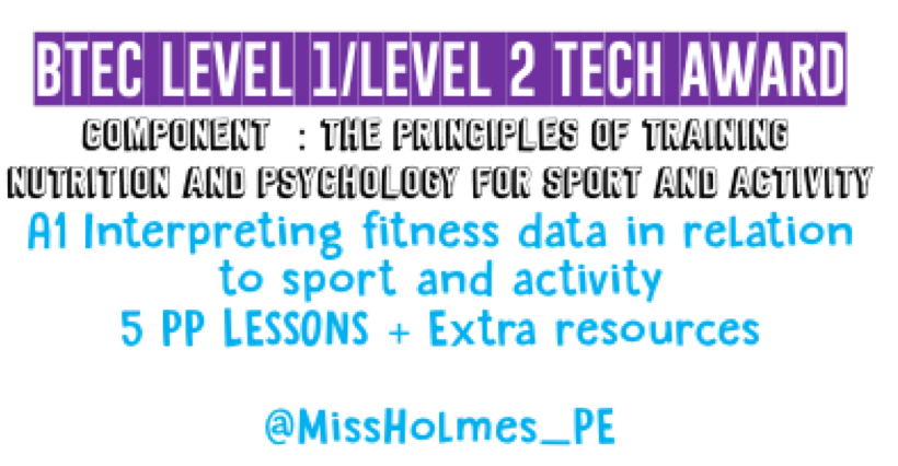A1 Interpreting fitness data in relation to sport and activity
