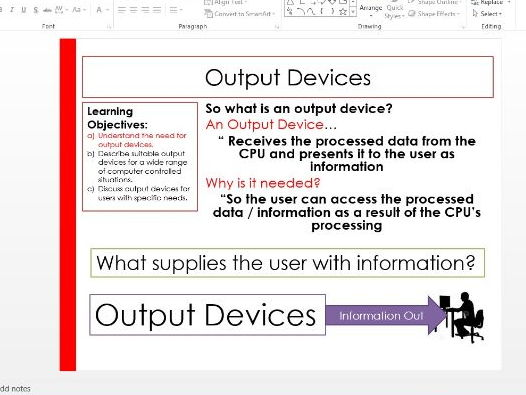 Computing - Output devices
