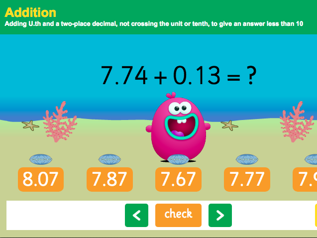 KS2 Number - Addition with decimals: thousandths
