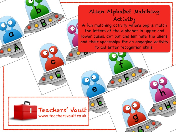 Alien Alphabet Matching Activity