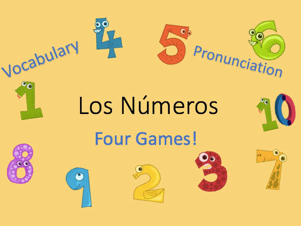 KS2/KS3 Numbers 1 - 10 in Spanish - Vocabulary and Games