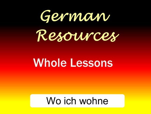 German Lessons: Wo ich wohne - Types of accommodation + Dative