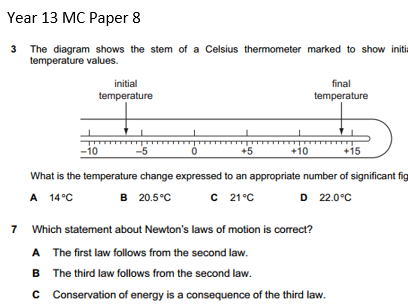 Physics A level Multiple Choice Questions OCR Pack 2