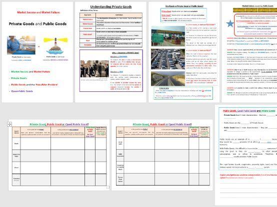 Public Goods Student Booklet (For AQA & EDEXCEL)