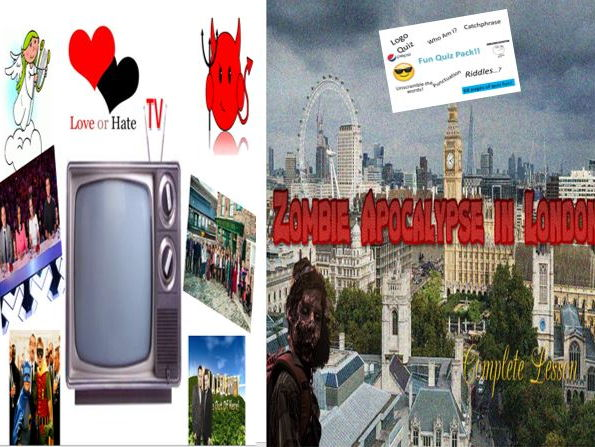 Zombie Apocalypse in London + TV Love and Hate + Fun Quiz Pack